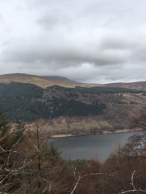 Talybont reservoir and across to Allt Lwyd and Waun Rydd on the way up