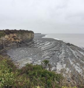 Overlooking cliff falls at Fontygary Bay