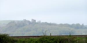 Misty Llansteffan Castle