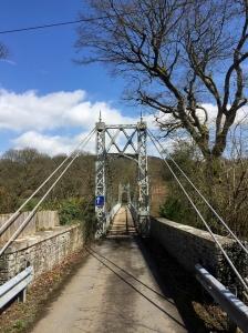 Llanstephan suspension bridge