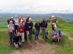 group at Ysgyryd Fawr trig point