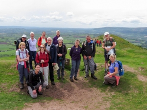 group at Ysgyryd Fawr trig point