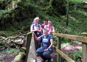 The gang at the sunken cwm