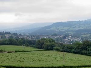 Climbing up from Crickhowell