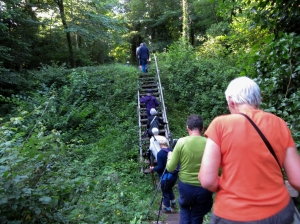 Climbing to the hillfort