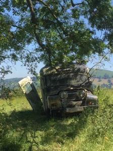 Barns Farm old ambulance