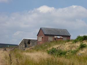 Old industrial buildings Mynydd Coety