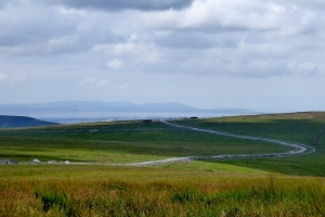 Access road and views to Gower