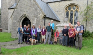 The gang at St Mary's Church Penmark