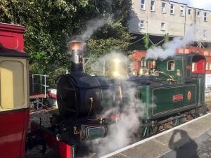Manx steam ride home on day 4