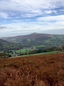 Sugar Loaf on the way down to Llanbedr