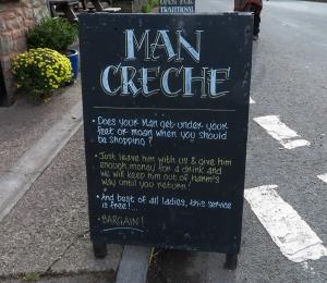 Sign outside the Lion Inn