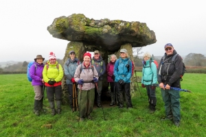 the gang at st lythans burial chamber
