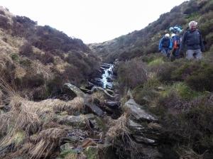 Rocky path beside Rhondda Fawr