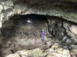 Exploring Eglwys Faen cave