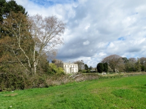 Ewenny main house from the deer park