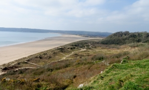 Overlooking Oxwich Bay