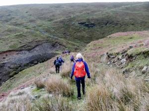 Descending from Mynydd Bedwellte