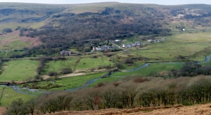 Lunchtime view of Mynydd Bedwellte