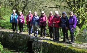 The gang on the Clepper Bridge Cwm Alun
