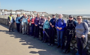 Group on Porthcawl seafront