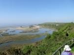 Overlooking the salt lagoons