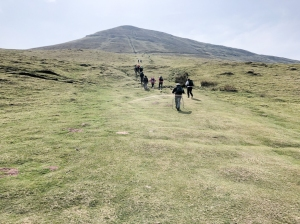 The climb up to Hay Bluff