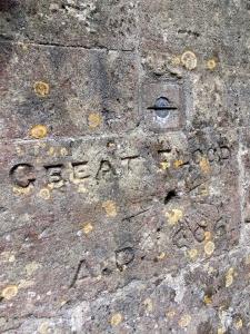 Memorial to Great Flood St Thomas Church Redwick