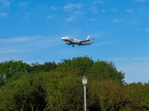Aircraft above Porthkerry Leisure Park