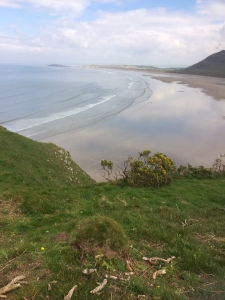 Overlooking Rhossili Bay