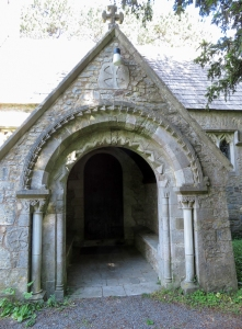 Entrance to St Brides Church