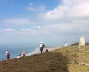 Trig Point on Rhossili Down for lunch
