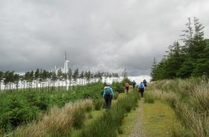 Walking towards the wind Farm