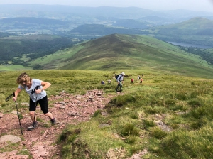 The steep climb to Carn Pica