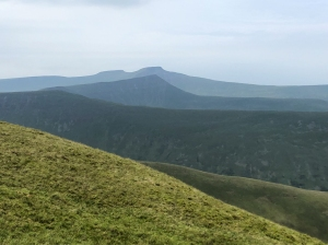 Great views of the central Beacons on the way down