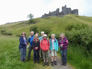 The Gang at Carreg Cennen Castle