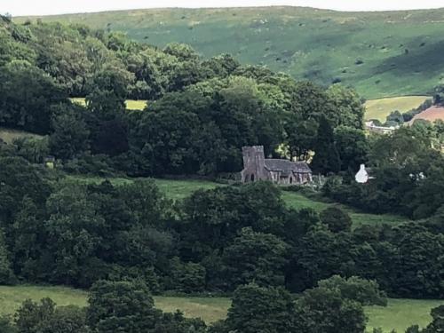 Cwmyoy the 'wonky' church