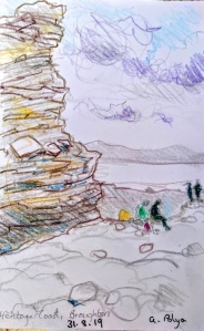 A lunch time sketch from Anna below Cwm Nash