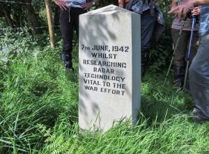 New memorial stone