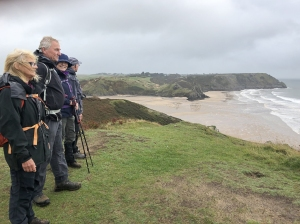 Overlooking Three Cliff Bay