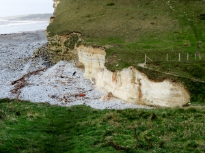Cliff that contained medieval bones