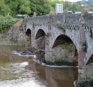 Wye Bridge already clogging up