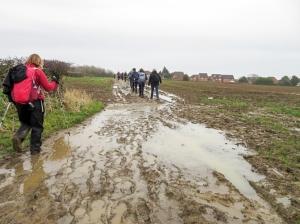 Mud and water returning to Rhoose