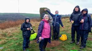 The Gang at the stone commemorating the first Gorsedd