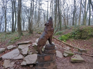 Sculpture Trail in Fforest Fawr
