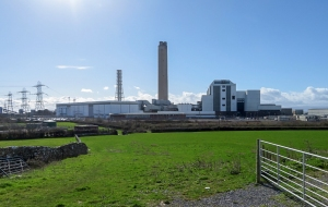 Rear view of Aberthaw Power Station